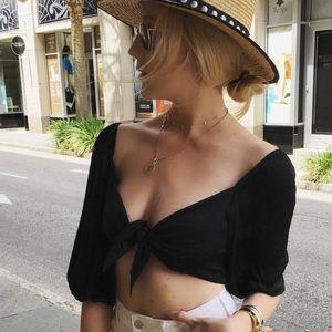 Silky Black Crop